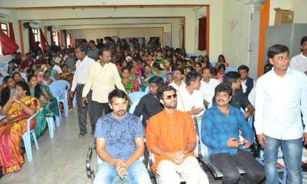 Dwaraka movie team at ACE Engineering College