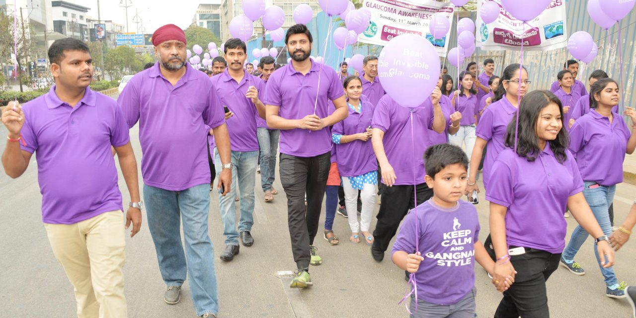Sumanth joins in the 'Glaucoma Awareness Walk' organised by L V Prasad Eye Institute!