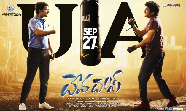 DevaDas completes censor with 'U/A'. Release on Sept 27th